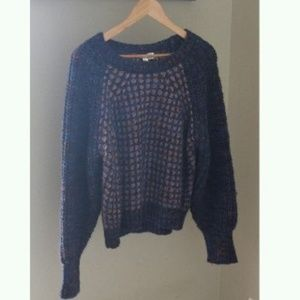 Anthropologie Moth Hillwalk Sweater Chunky Boxy